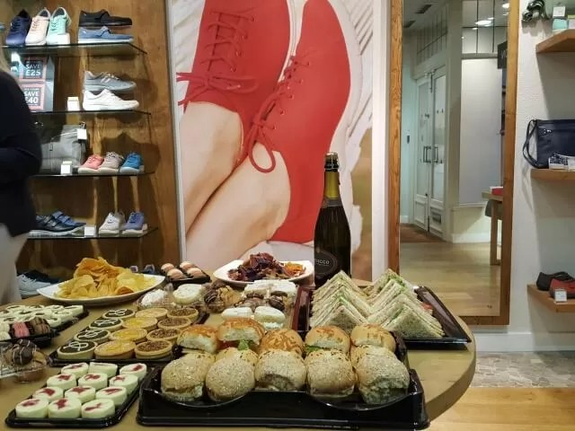 food at Hotter shoes event