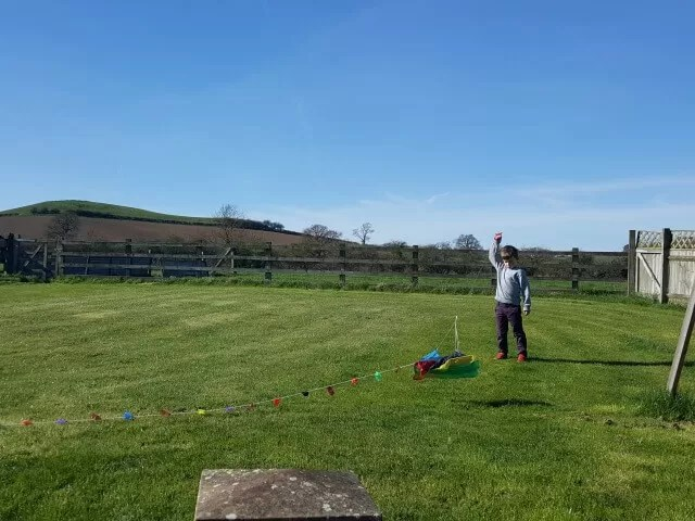 trying to fly the kite