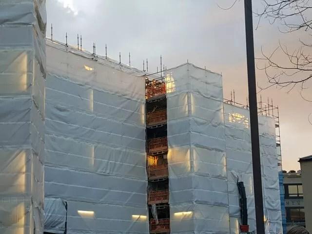 westgate scaffolding under sunset OXford