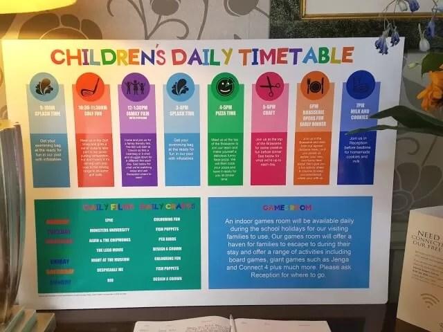 children's activities at Dunston Hall