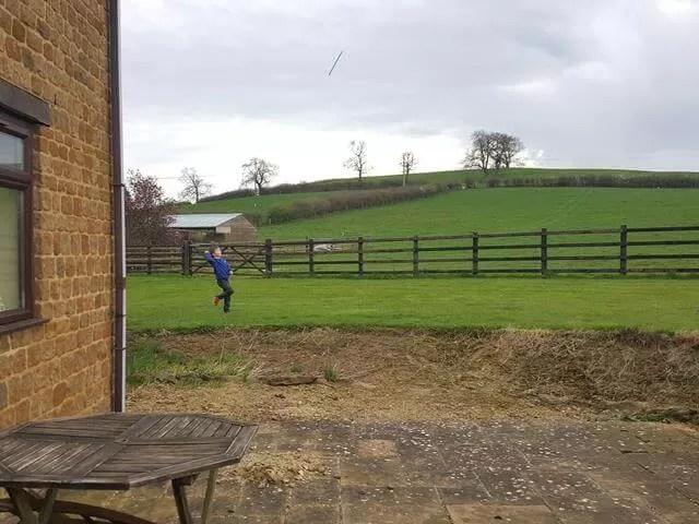 tossing poles in the garden