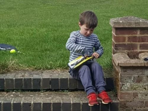 getting into badminton in the garden