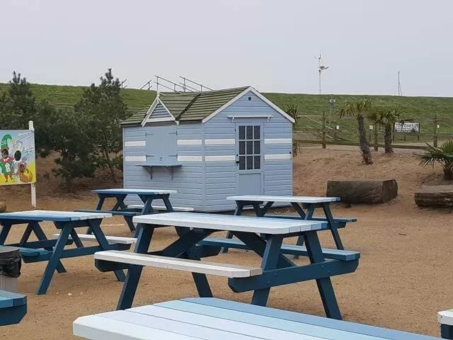 beach hut near the Wells cafe