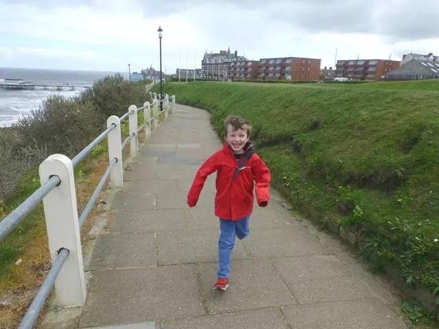 running on Cromer promenade