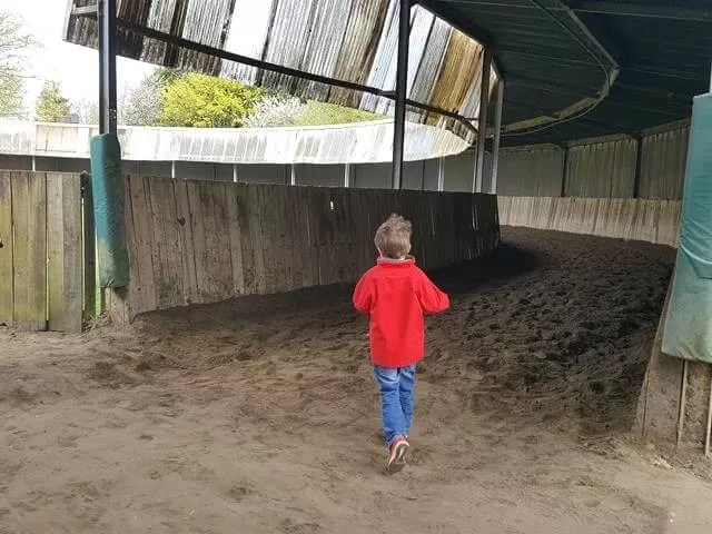 running round the indoor training shed
