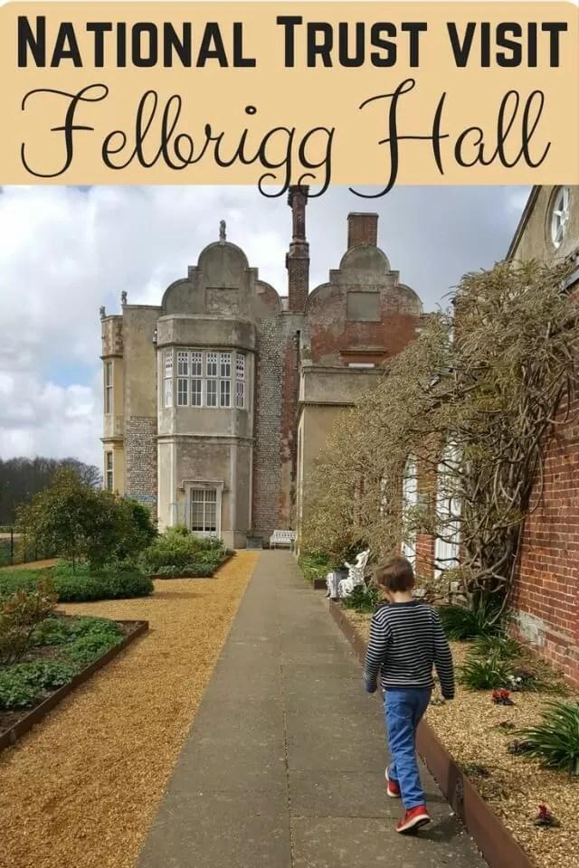 National Trust visit Felbrigg Hall - Bubbablue and me.