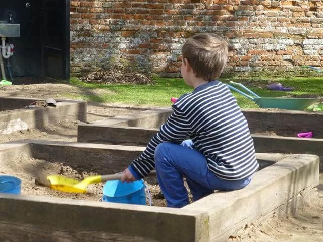 chilling out in the sandpits at Felbrigg Hall