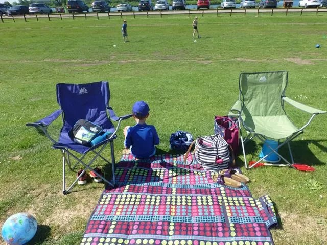 picnic and beach set up