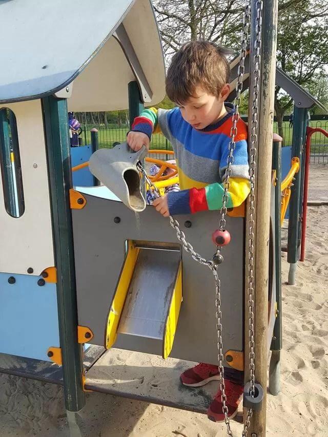 sand play at Eaton Park
