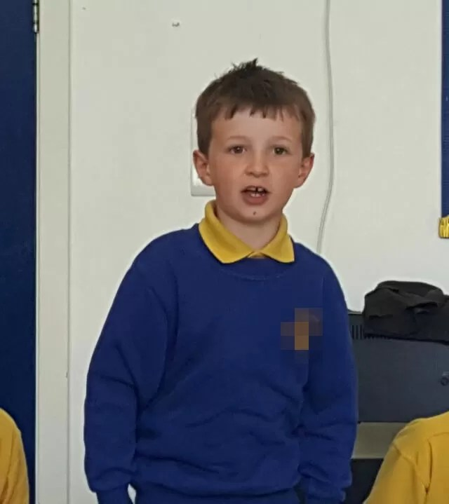taking part in class assembly.