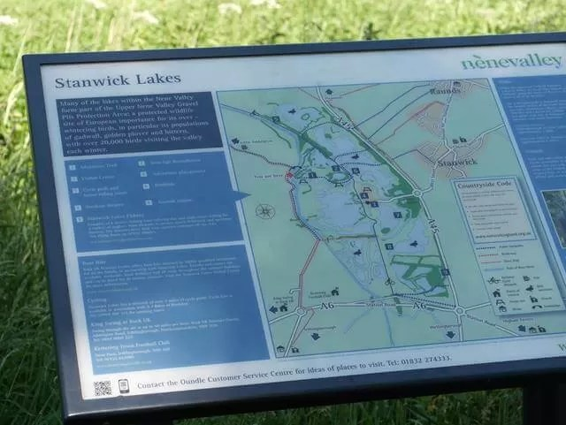 map of stanwick lakes country park