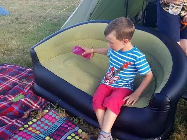 blow up camping sofa