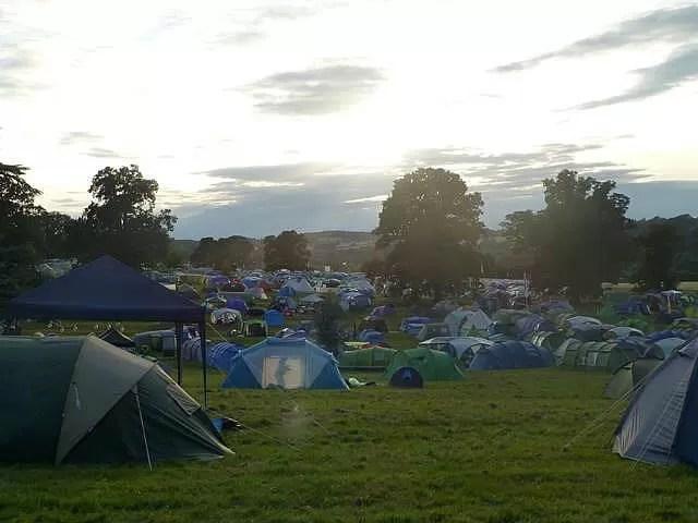 campsite at cornbury