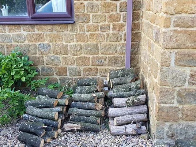 logs ready for winter