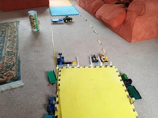 toy farm set up
