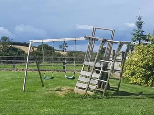 wonky climbing frame
