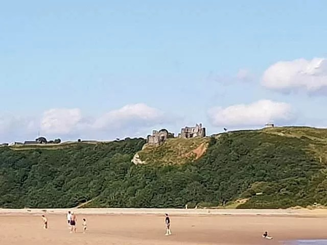 Pennard Castle view