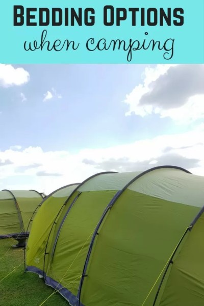 bedding options when camping - Bubbablue and me