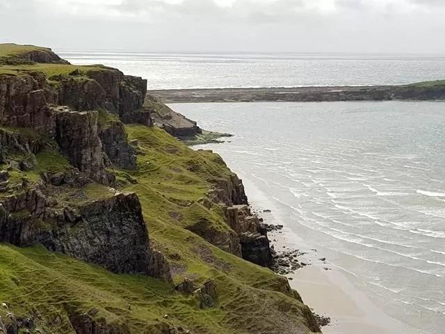 rugged coast at rhossili bay