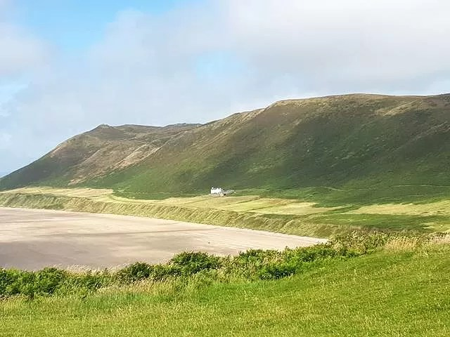 white house at rhossili bay - old rectory