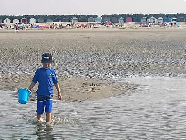 collecting water at west wittering beach