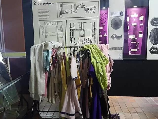 dressing up gear at fishboune roman palace