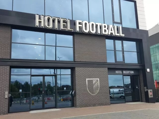 hotel football blog venue