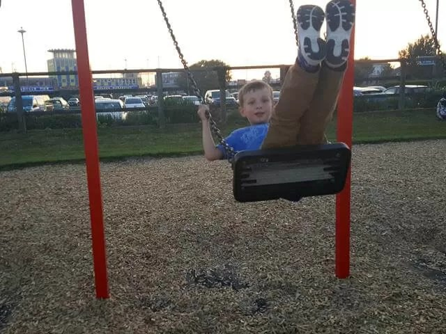 on the swings at southsea park