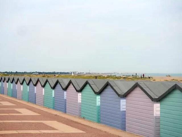 pastel beach huts southsea
