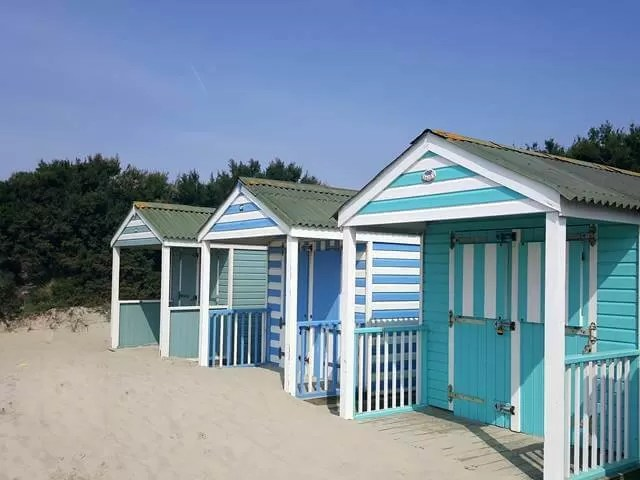 pretty beach huts at west wittering