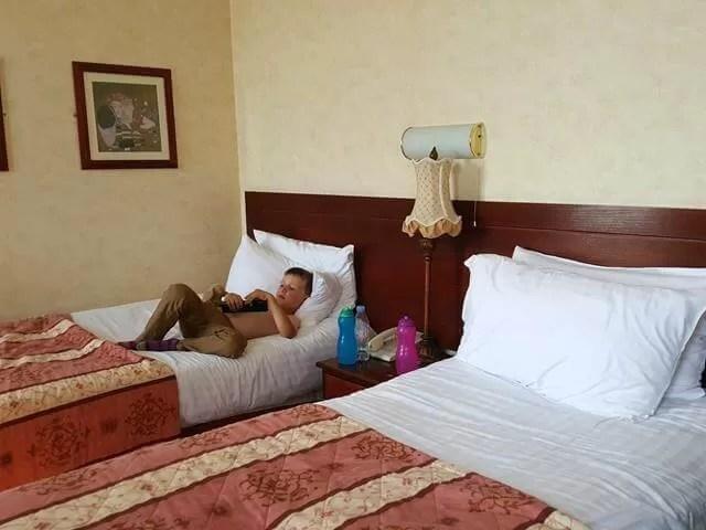 relaxing in queens hotel southsea