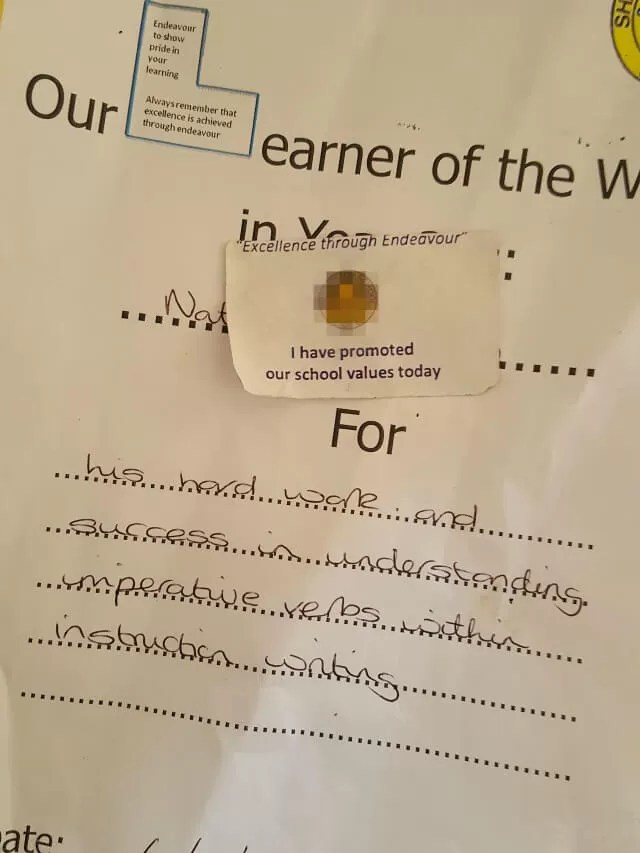 Learner of the week award