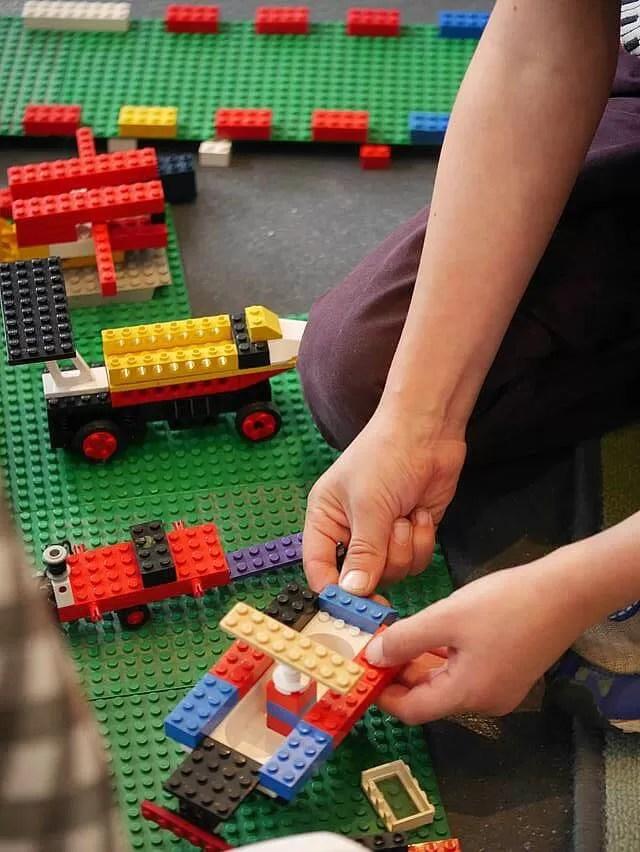 enjoying lego at lego cafe