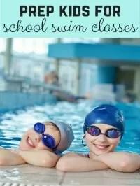 school swimming lesson prep
