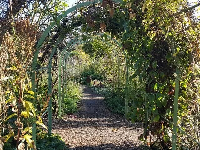 archway at coughton court in walled garden.