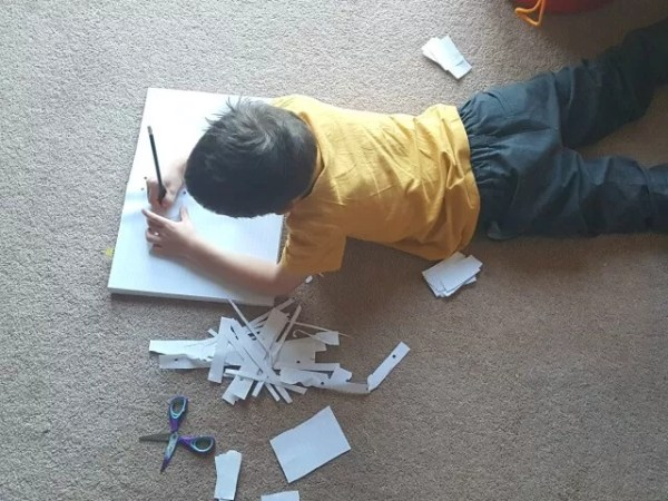 writing on the floor