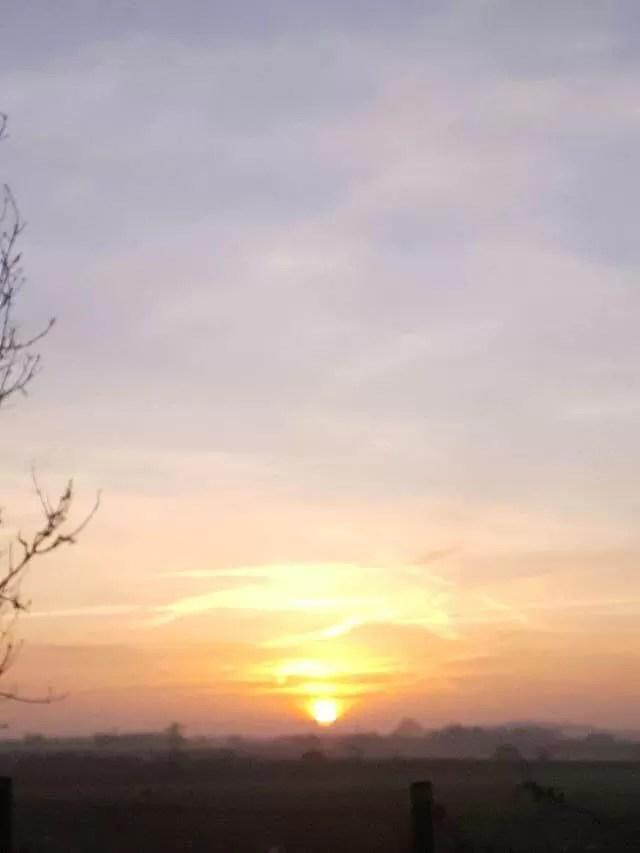 morning sunrise in December