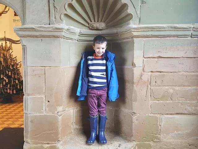 standing in an alcove at Charlcote park