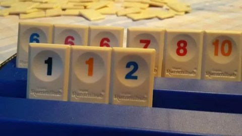 playing rummikub