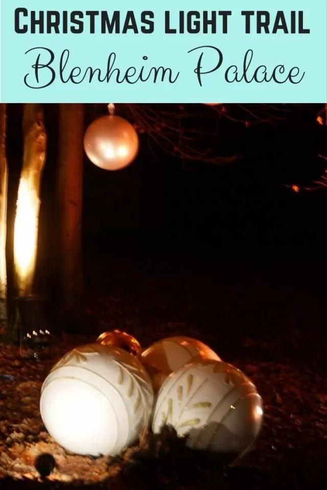 Blenheim Palace Christmas light trail - Bubbablue and me