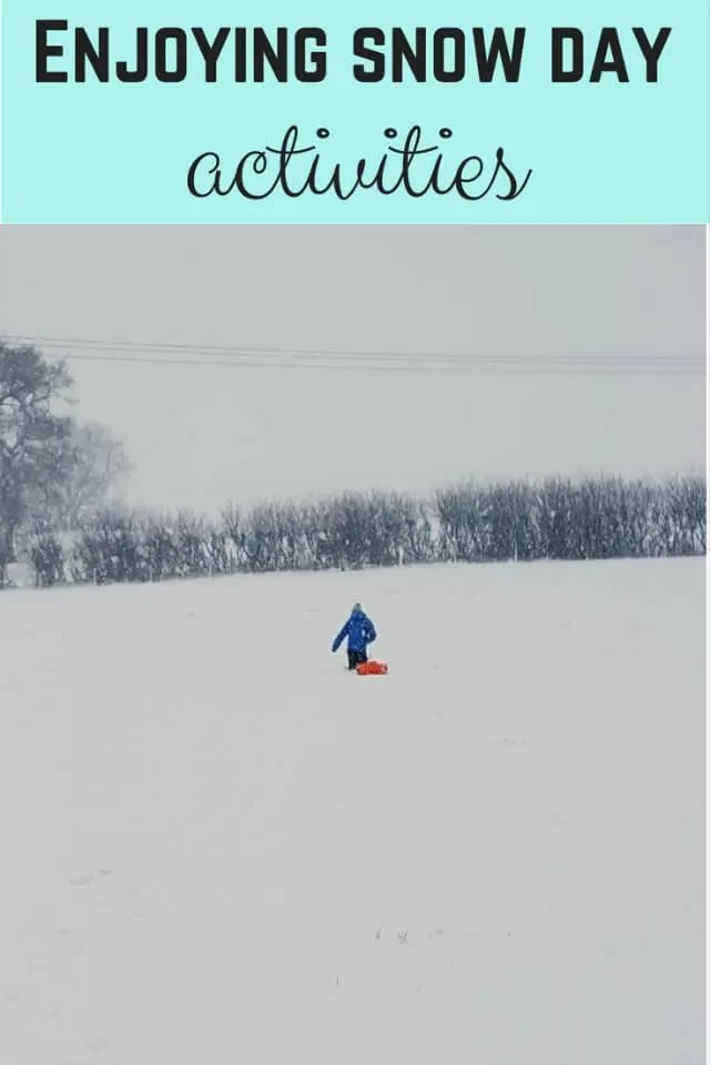 Snow day activities - Bubbablue and me