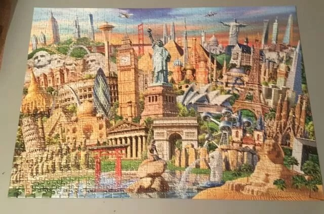 finished world landmarks jigsaw