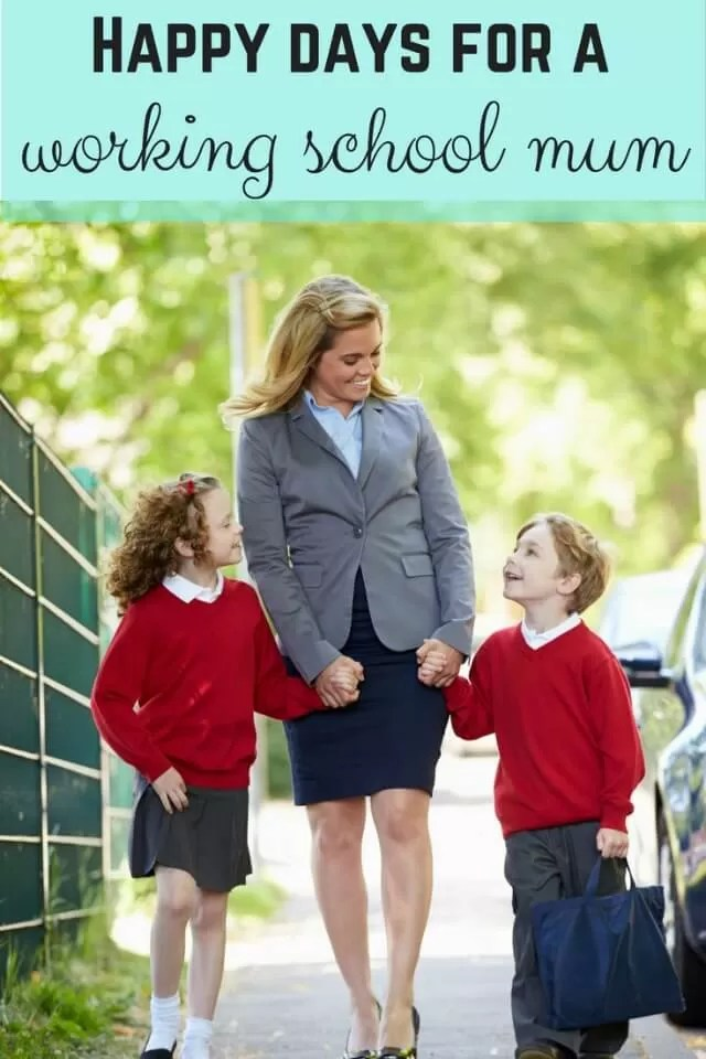 happy times for working school mums - Bubbablue and me