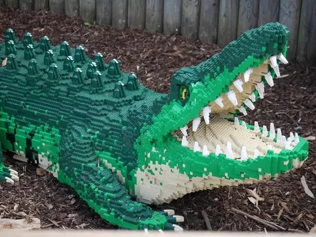 lego crocodile at marwell