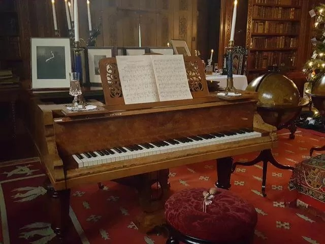 old piano at charlecote