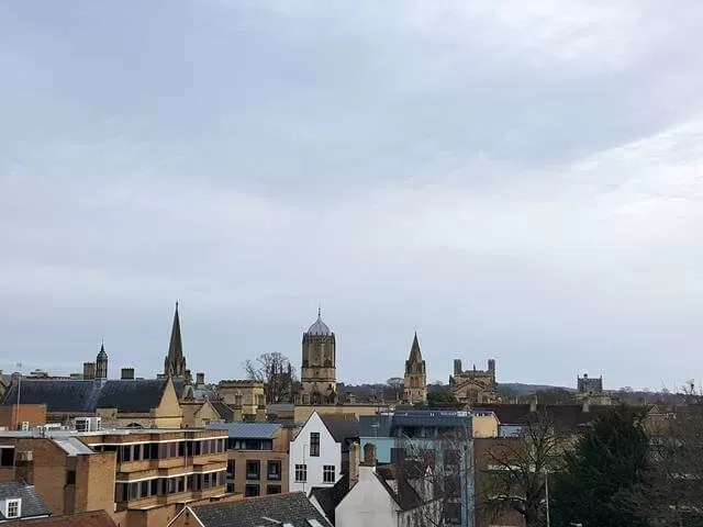 views over oxford from weste roof terrace