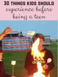 experiences before teenagers