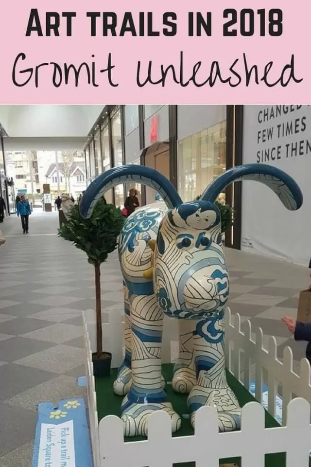 Arts trails 2018 Gromit in Oxford - Bubbablue and me