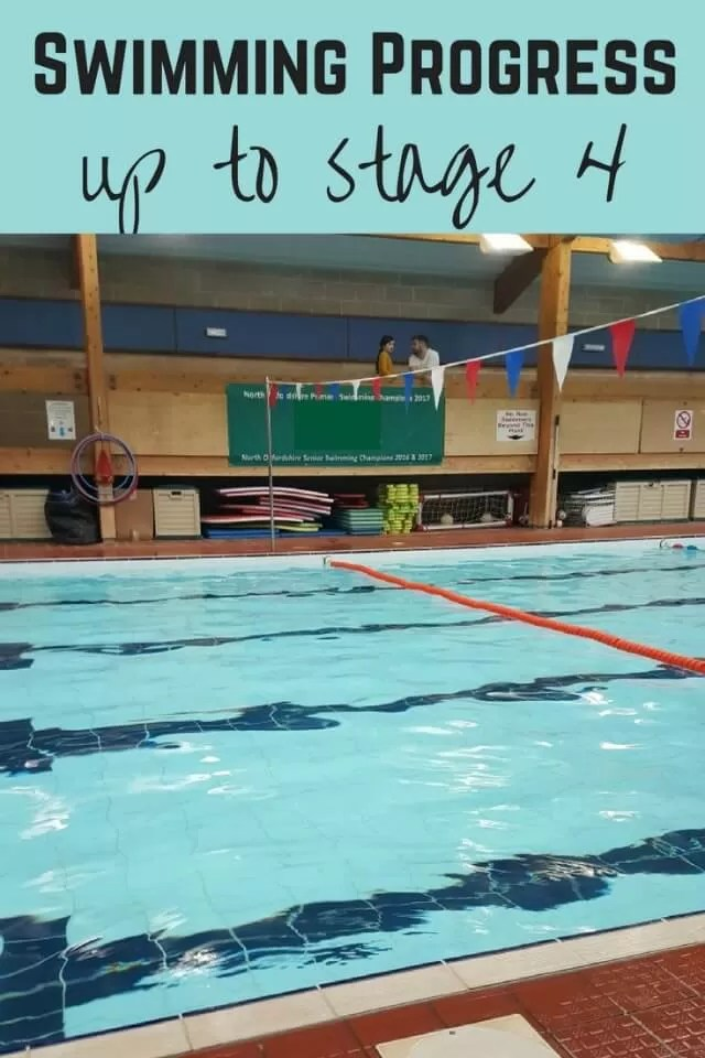 Progress in stage 4 swimming - Bubbablue and me