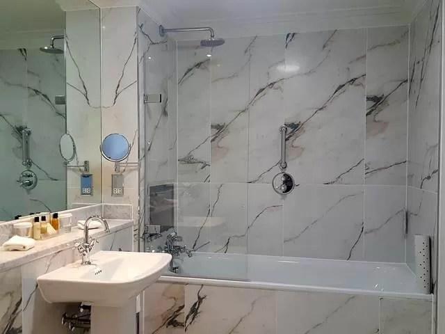 bathroom at bailbrook house hotel
